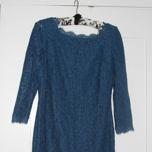Adrianna Pappell Blue Lace Dress Size 6P